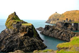 Blue Lagoon in Abereiddy Wales