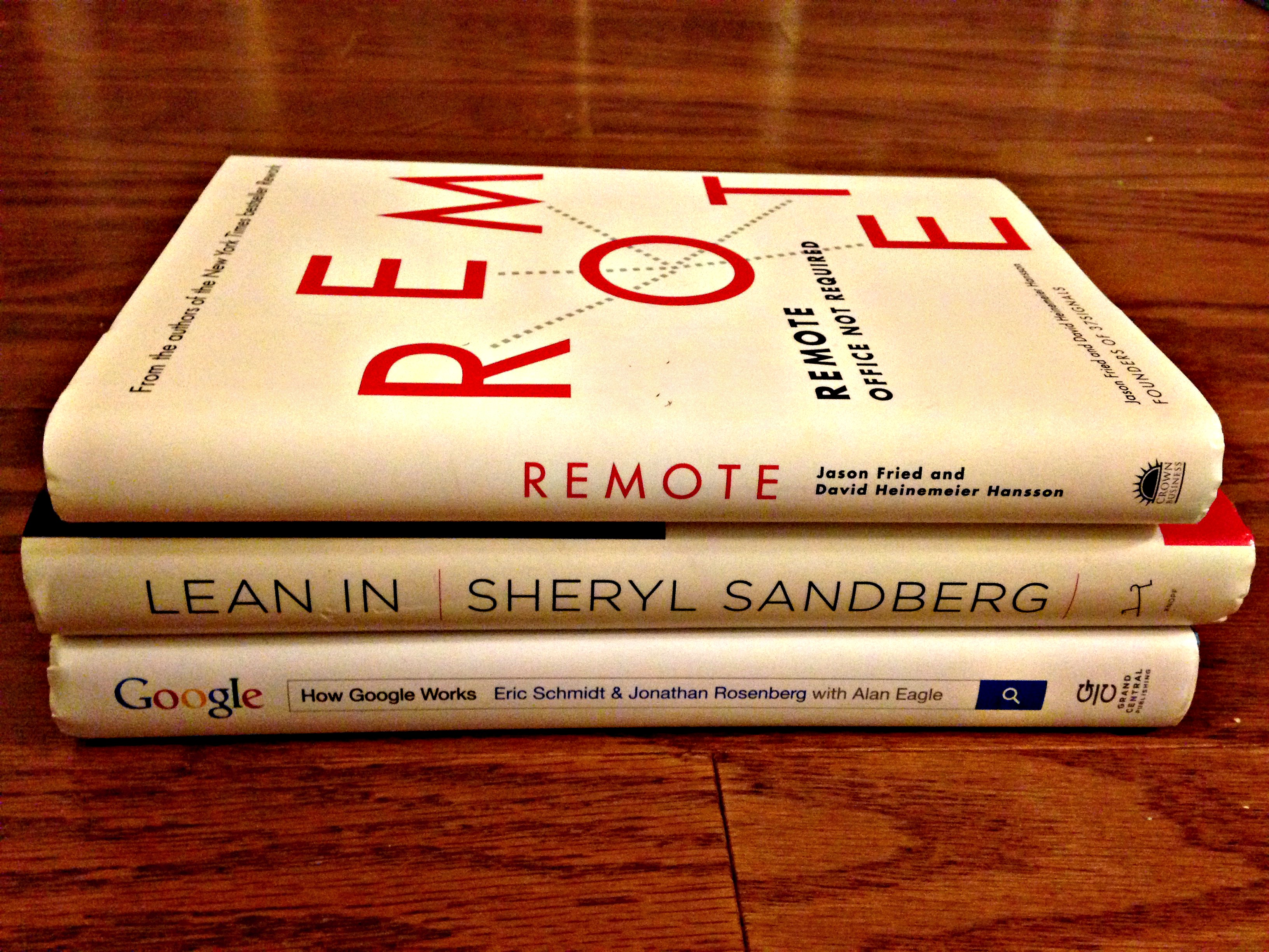 Remote Work Lean In Google books