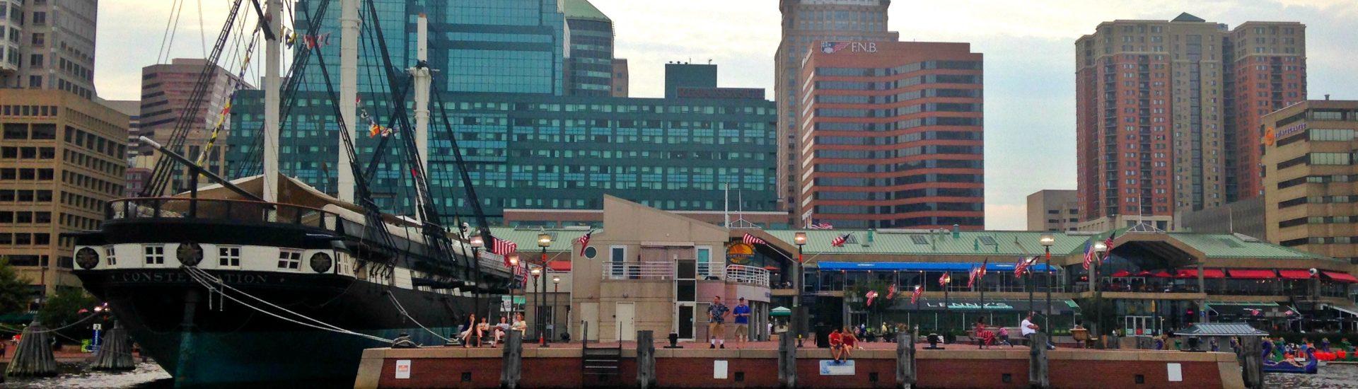 Baltimore harbor ship