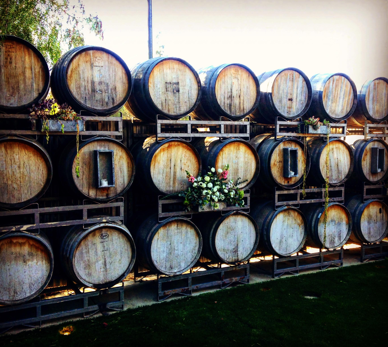 wine barrels los olivos