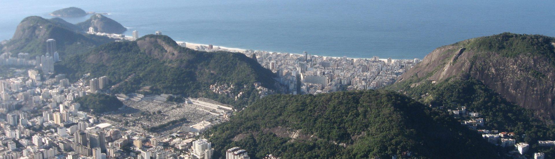 aerial view of Copacabana Rio
