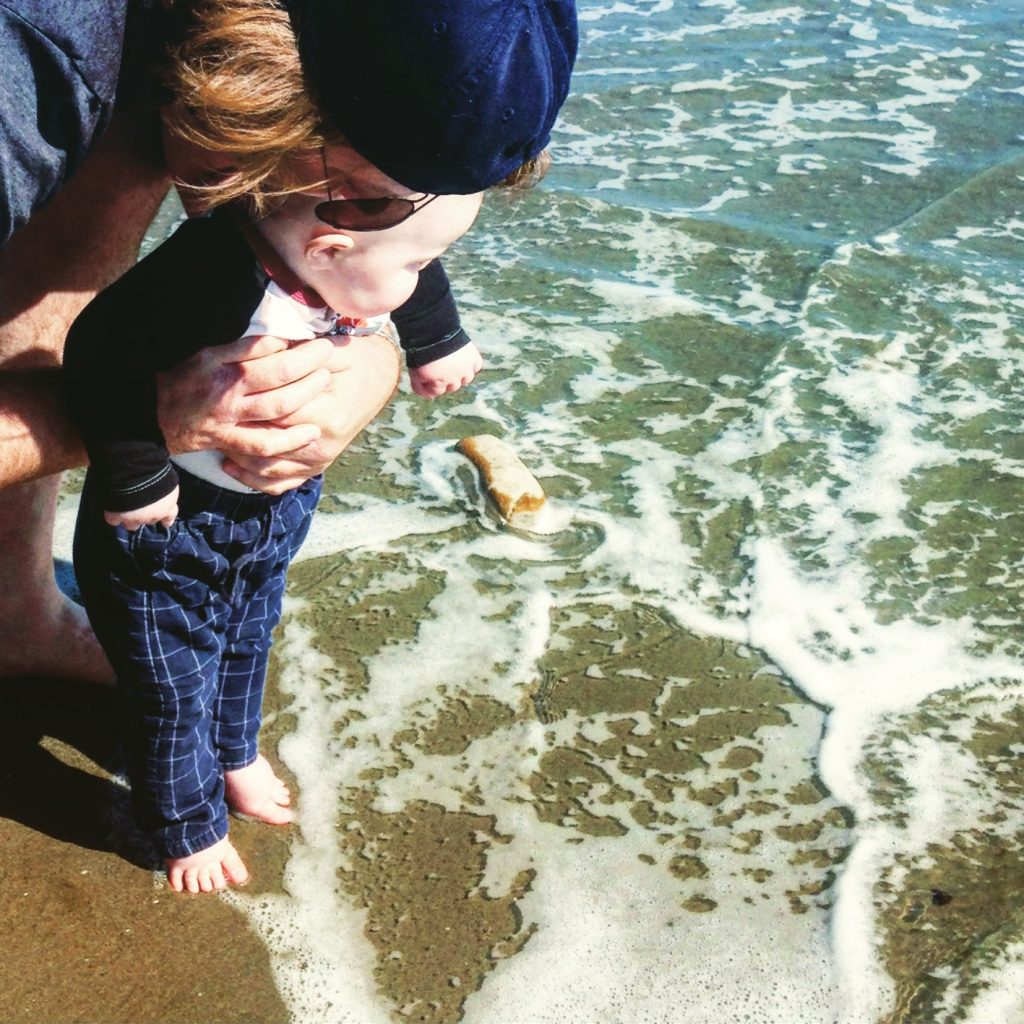 Baby's First Steps Into The Pacific